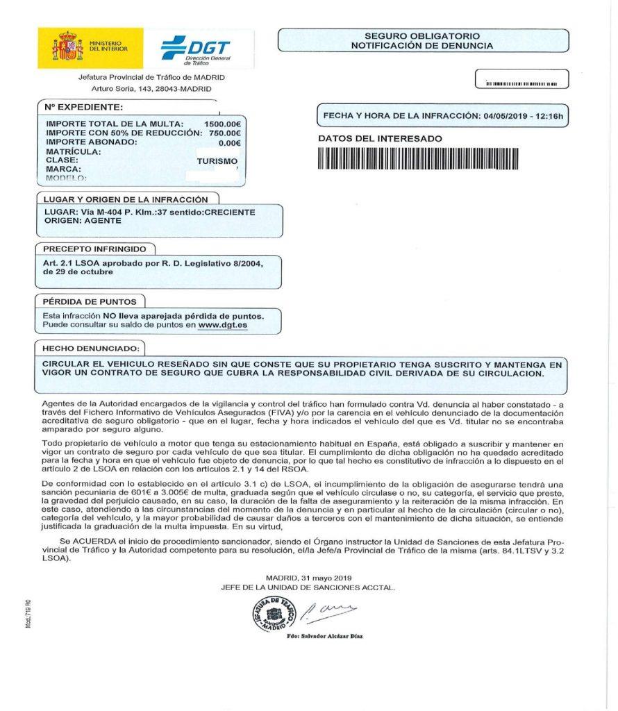 prescripción de multas
